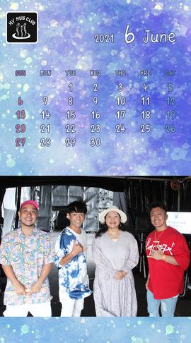 HY HUB CLUB Calendar 202106